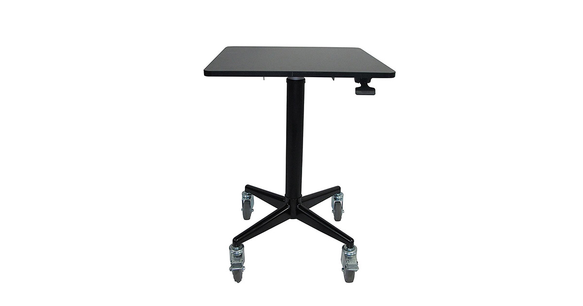 ApexDesk ALS-2424 AirDesk Series 24x24-inches Movable Lockable Sit Standing Desk image