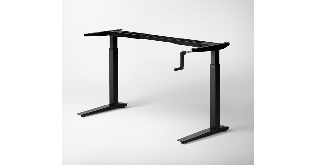 Jarvis Crank Powered 42 x 14 x 10 inches Adjustable Height Sit Stand Desk image