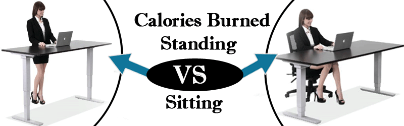 Calories Burned Standing vs Sitting Image