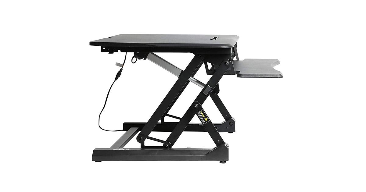 Seville Classics OFF65806 Airlift 36inch Electric Height Adjustable Standing Desk image