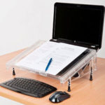 Using a keyboard, monitor and a document holder image