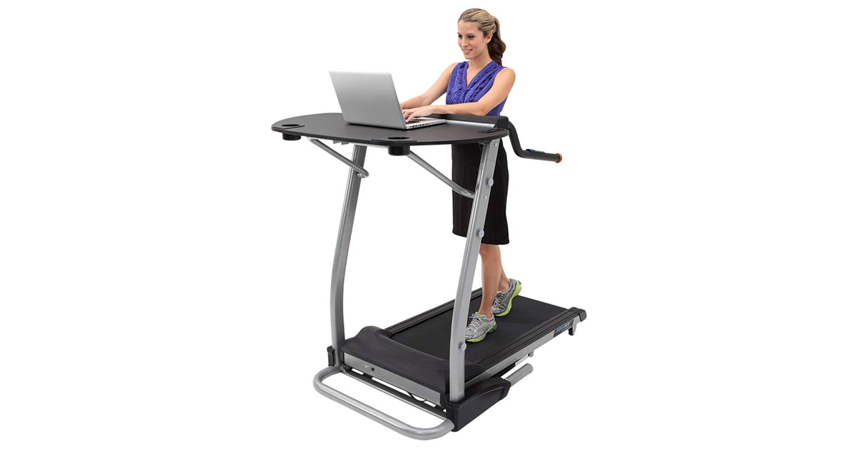 Exerpeutic 1030-2000 WorkFit High Capacity Desk Station Treadmill image