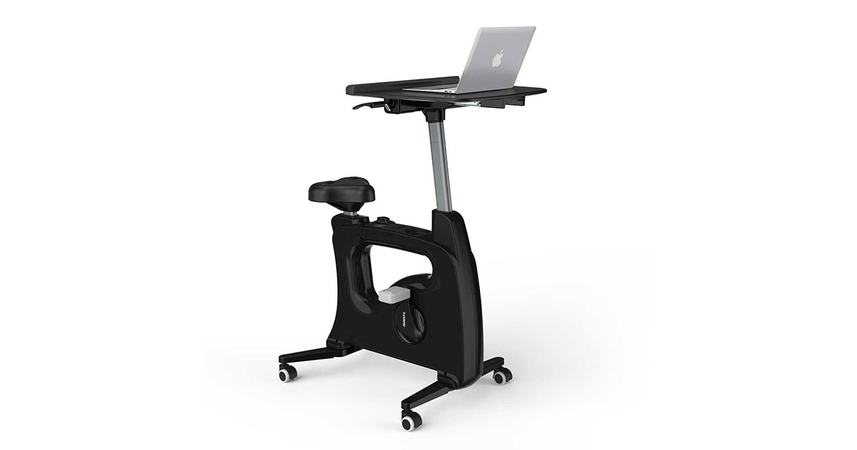 FLEXISPOT V9B Home Office Standing Desk Exercise Bike Height Adjustable Cycle Deskcise Pro image