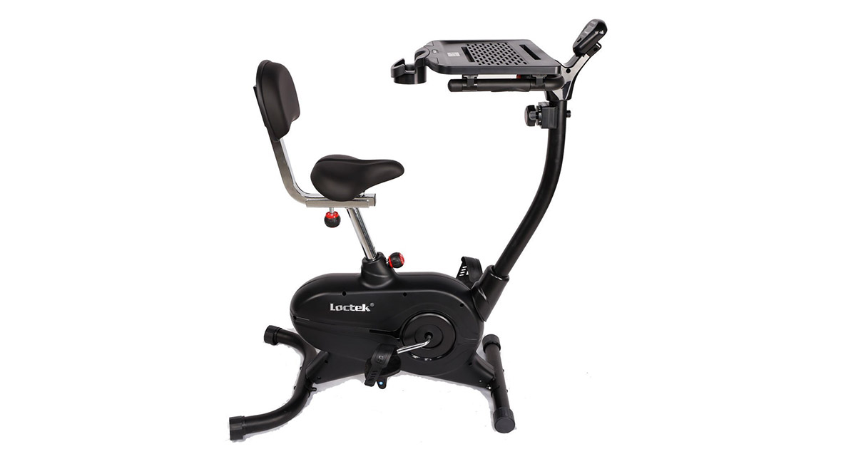 Loctek UF4M Stationary bike Magnetic Desk Exercise Bike Indoor cycling home office use image