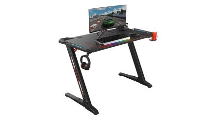 Eureka Ergonomic Z1-S Gaming Desk with LED lights – Gamers can conveniently utilize its large surface