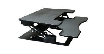 Fancierstudio RD-01 BLK Riser Desk Extra Wide 38-inch Fits Two Monitor Standing Desk image