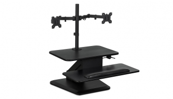 Mount-It Sit Stand Workstation, Height Adjustable – Adjust Quickly & Work Comfortably
