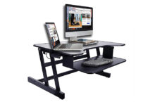 Rocelco ADR Sit-Stand Desk – It's Ergonomic Keyboard Tray prevents Neck Pain!